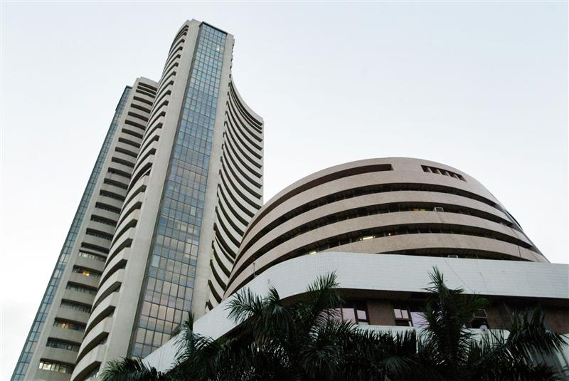 VIEW OF BOMBAY STOCK EXCHANGE, INDIA'S OLDEST STOCK EXCHANGE.
